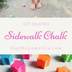 DIY SHAPED sidewalk chalk