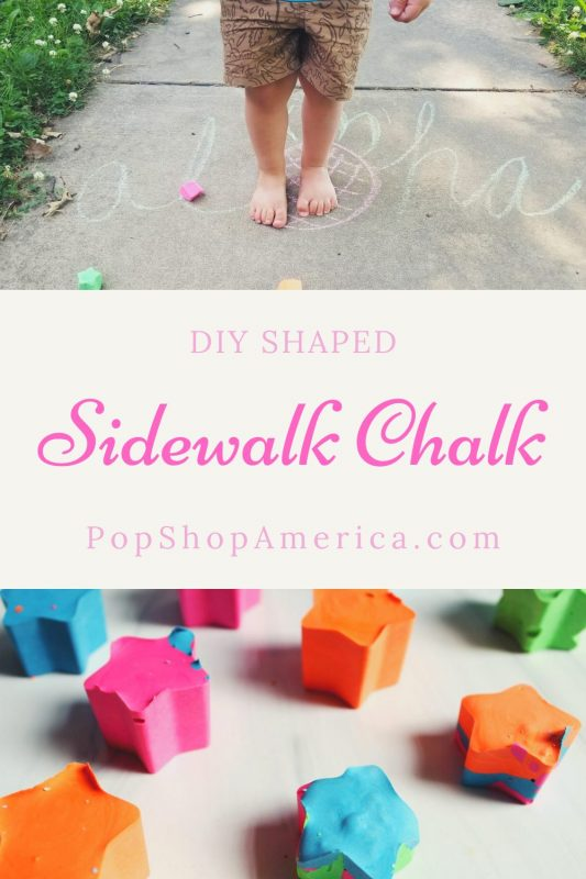 DIY SHAPED sidewalk chalk