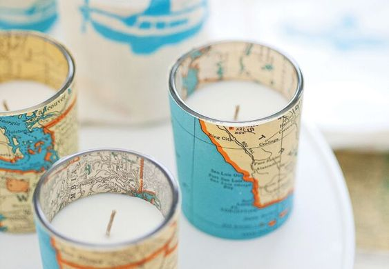 diy map candles the knot