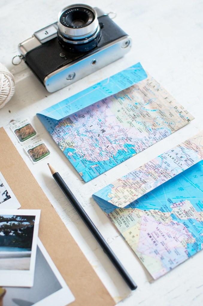 diy map envelopes collective gen blog