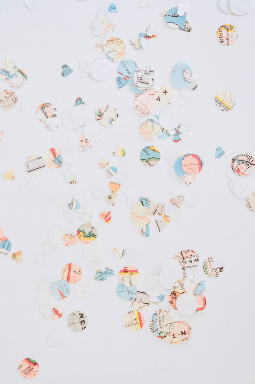 finished diy map paper confetti pop shop america