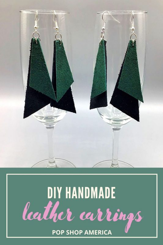 DIY handmade leather earrings