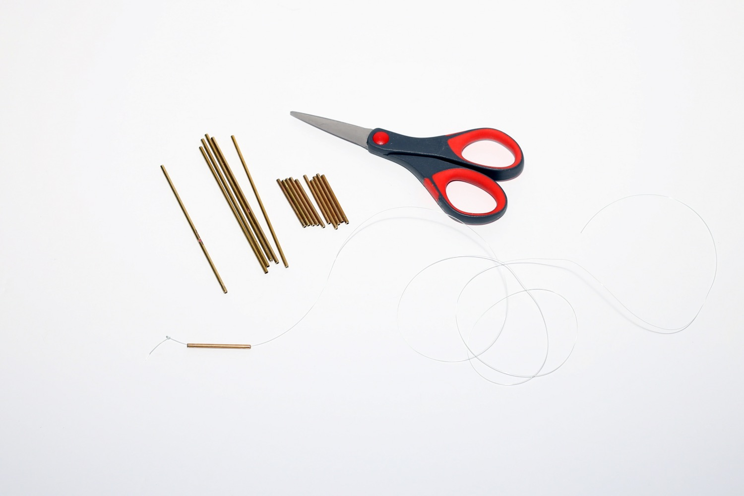 all the cut pieces of copper pipe diy himmeli