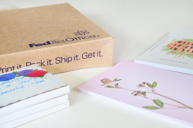 fedex printing in the packaging