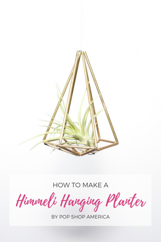 how to make a himmeli air plant hanging planter