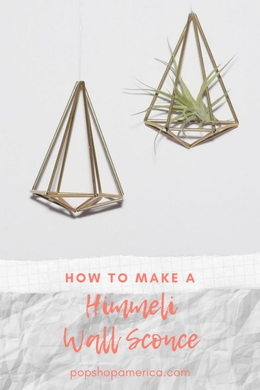 how to make a himmeli wall sconce diy pop shop america