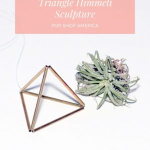 how to make a triangle himmeli sculpture