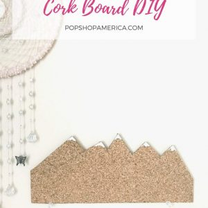 snowy mountain cork board diy pop shop america