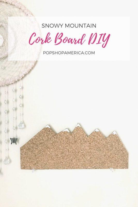 snowy mountain cork board diy pop shop america