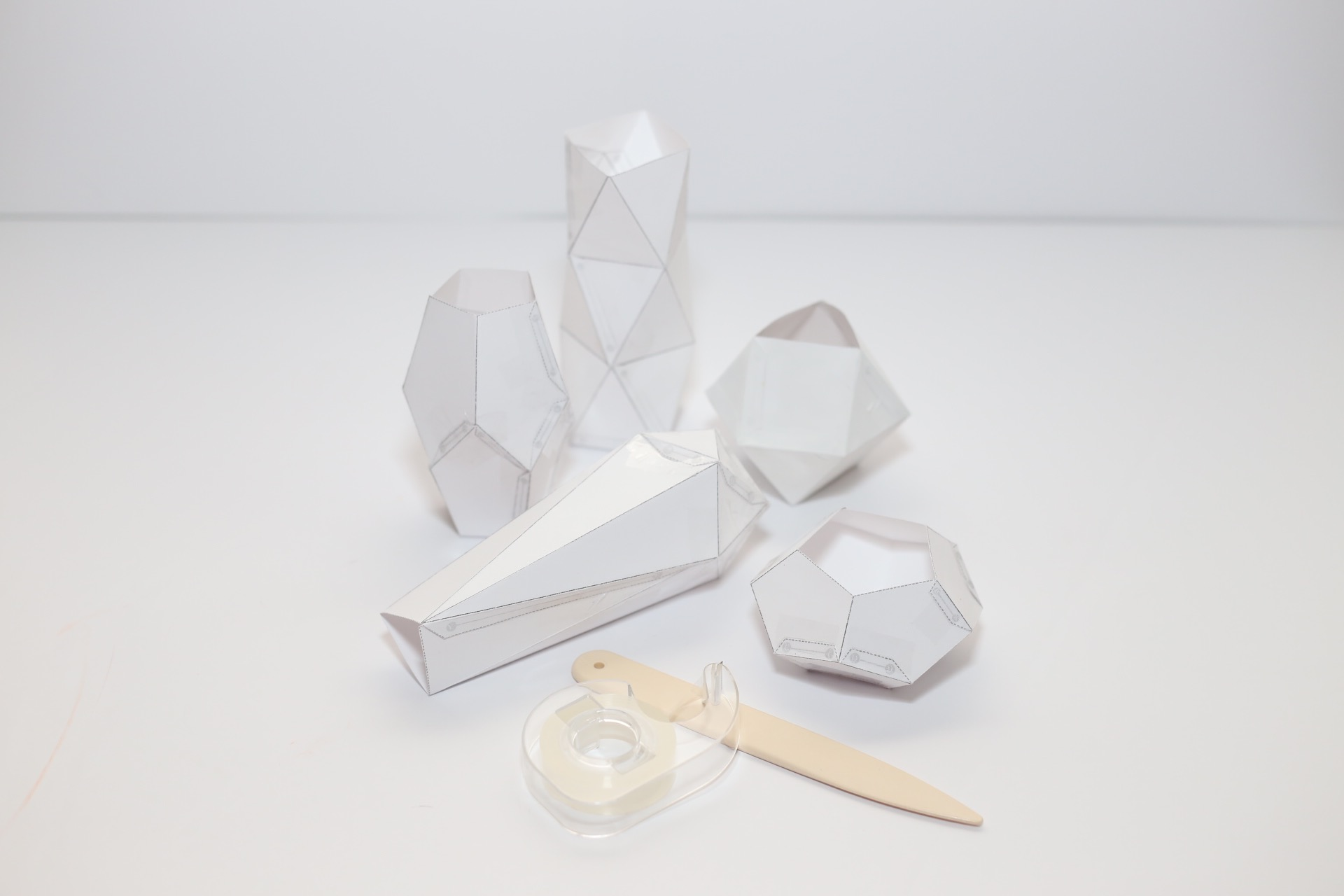 all the finished geometric paper templates diy tutorial