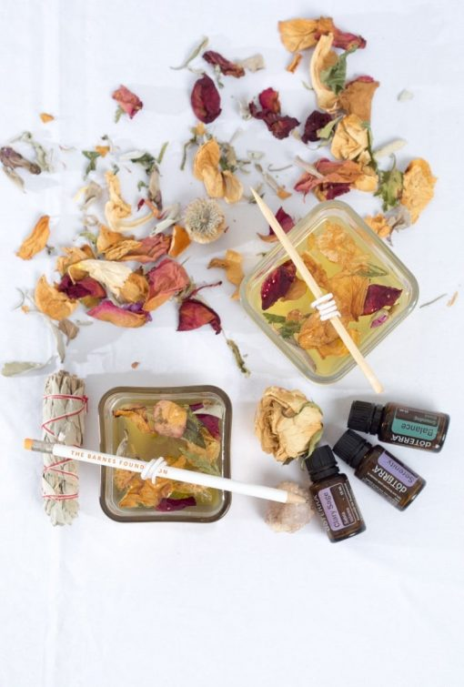 diy candle making kit with dried flowers supplies