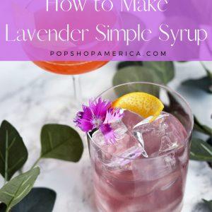 diy lavender simple syrup for cocktails