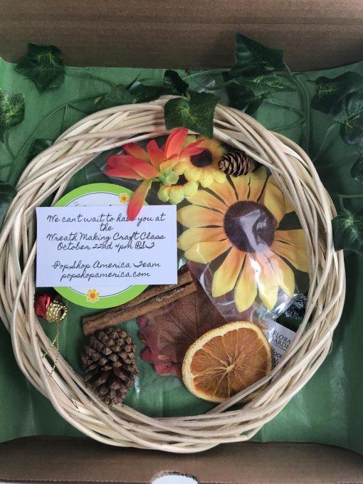 diy small fall holiday wreath craft kit
