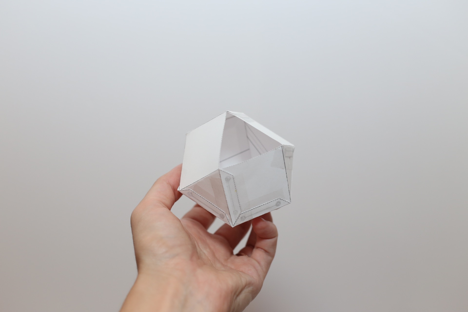 finished geometric shaped template for candle making