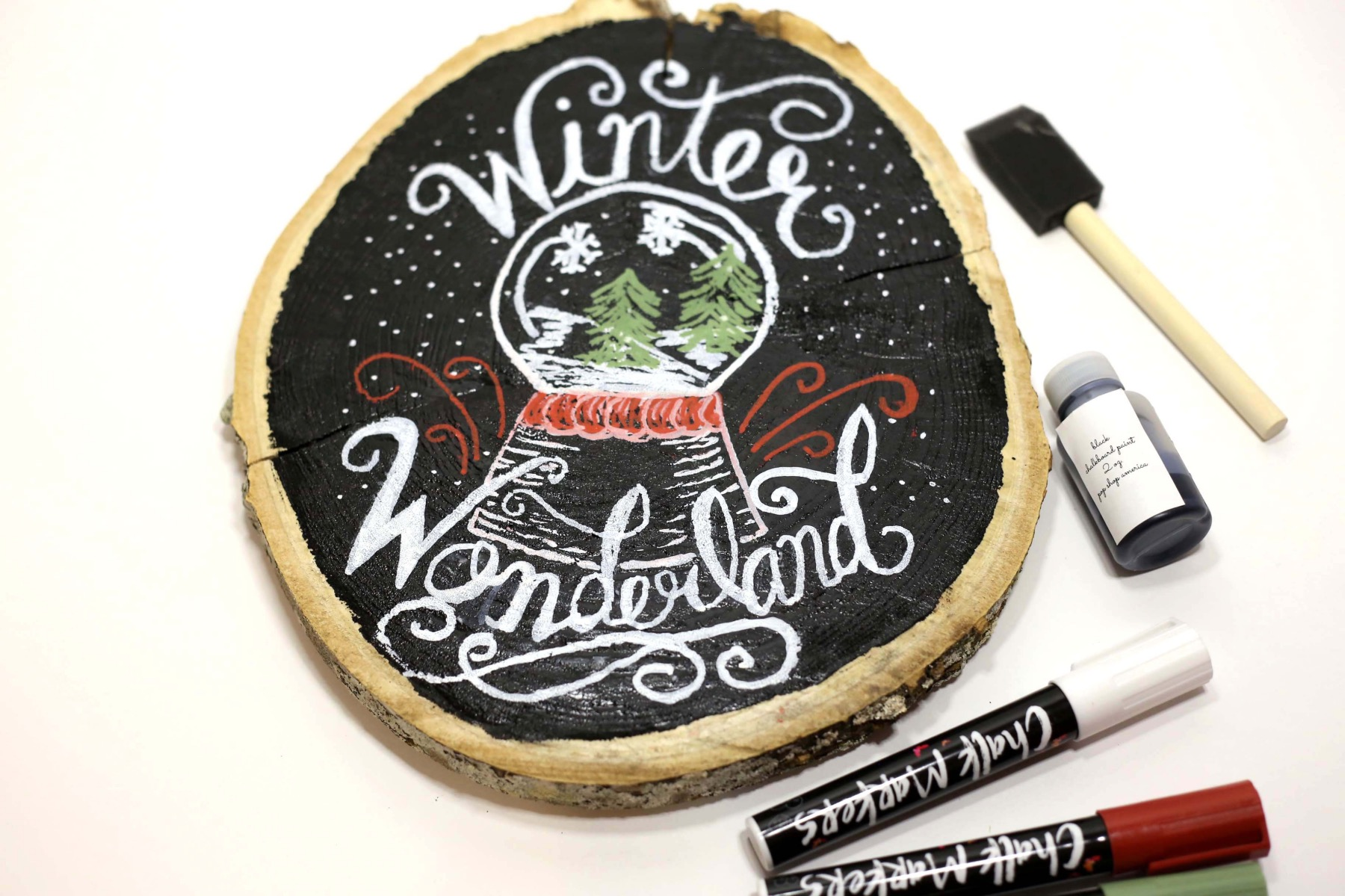 finished hand lettered fall sign craft tutorial