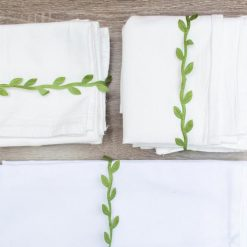 flour sack tea towels folded kitchen towels