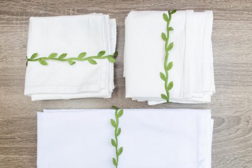flour sack tea towels folded kitchen towels