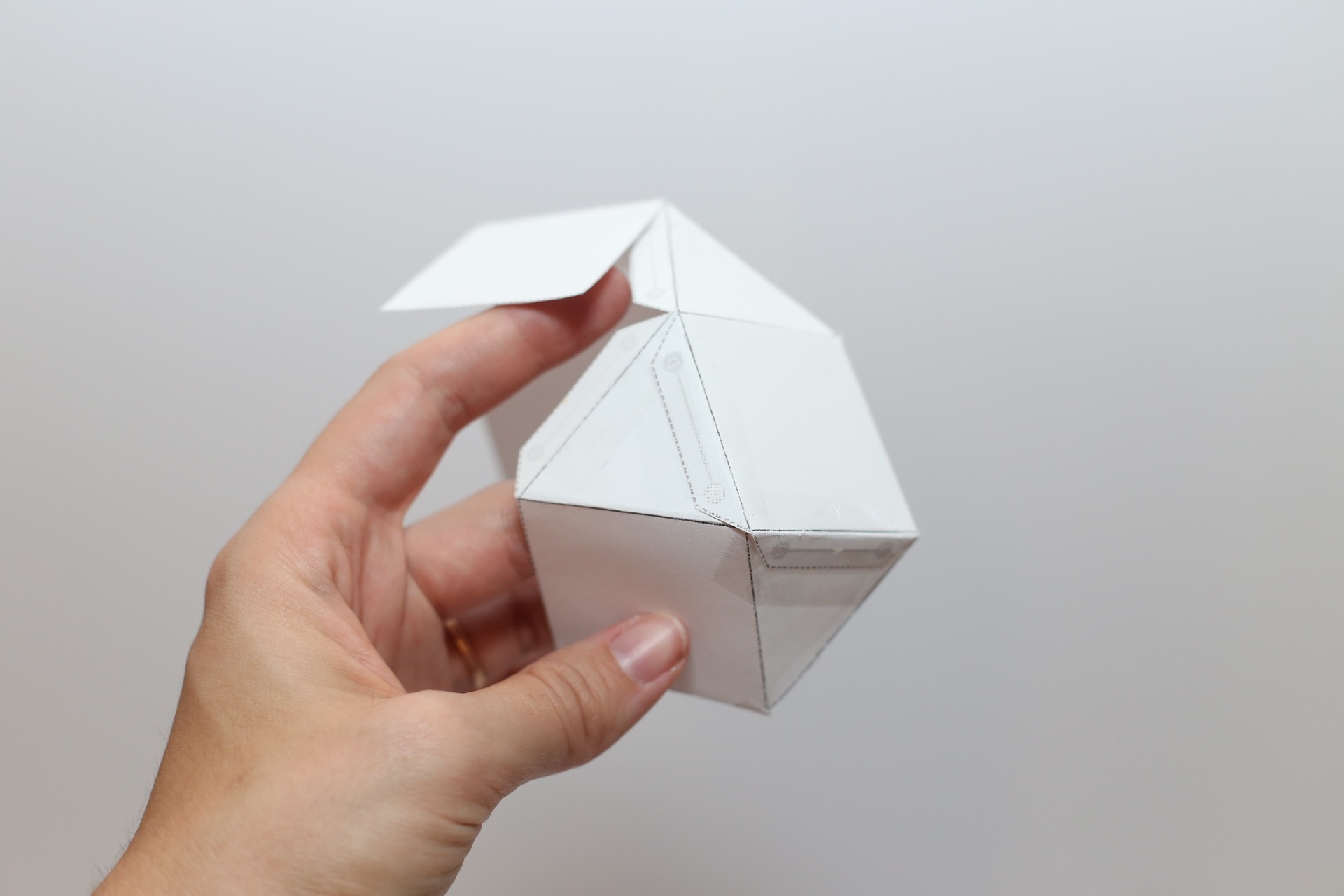 fold and assemble the candle making template