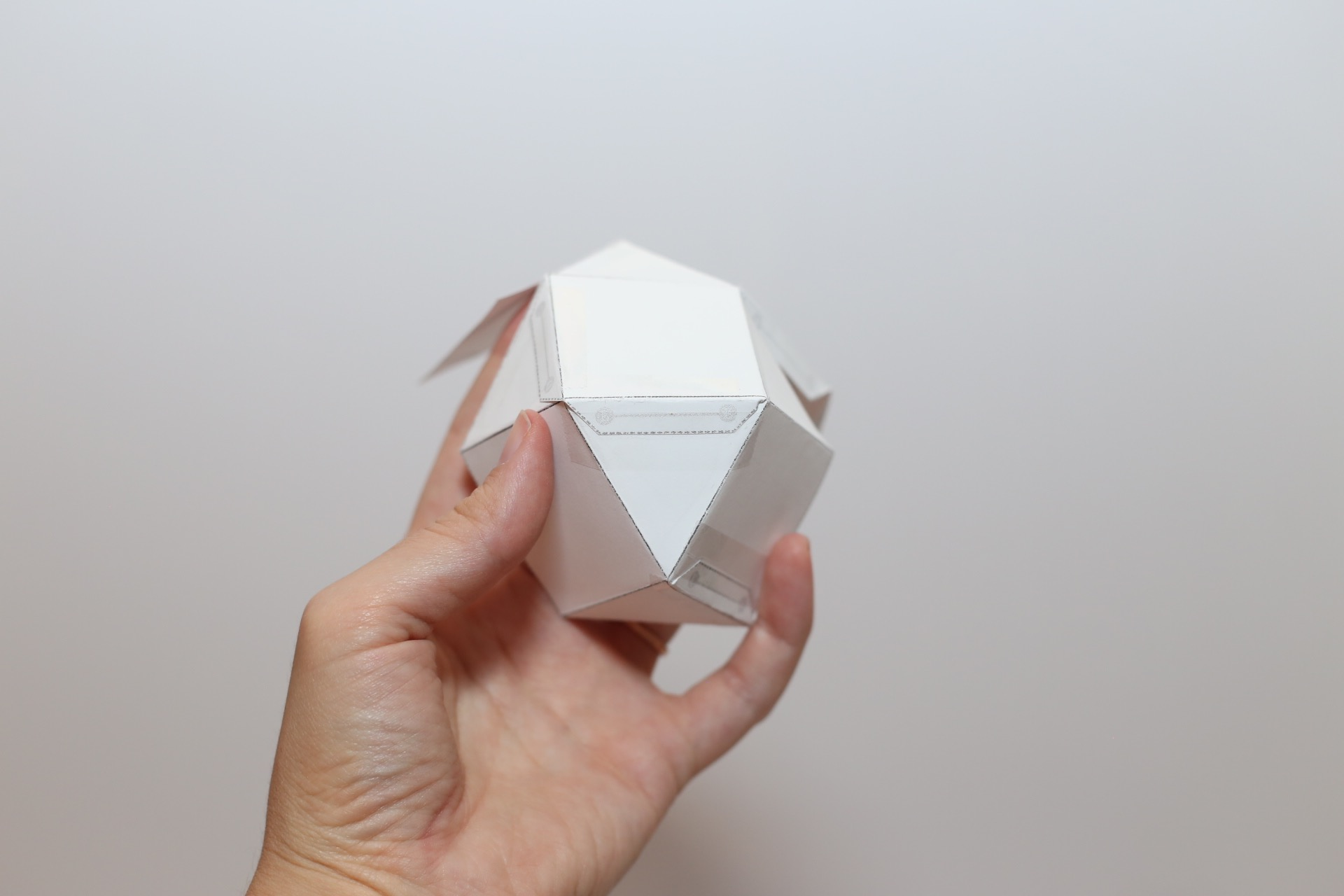 geometric paper template for candle making craft tutorial