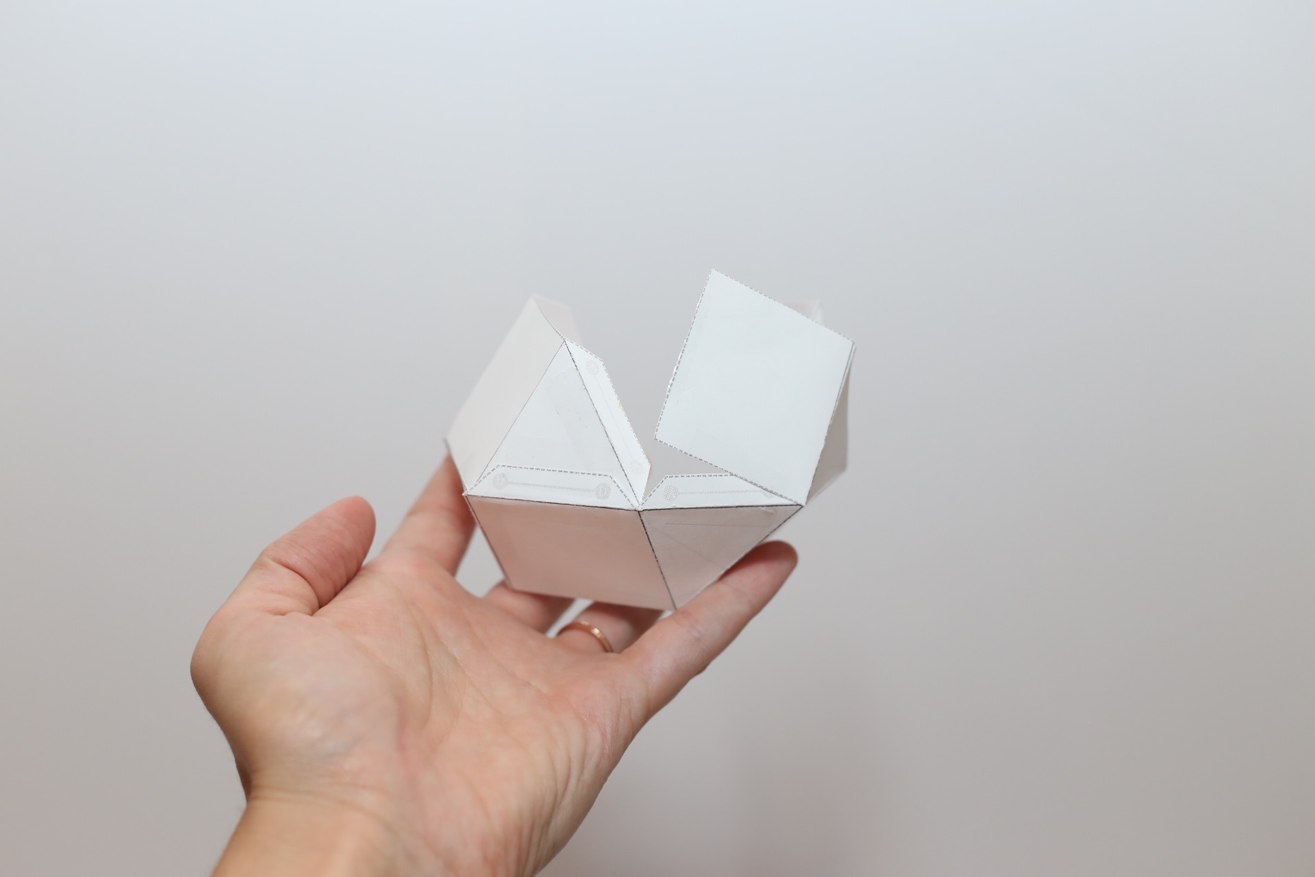 geometric paper template for candle making
