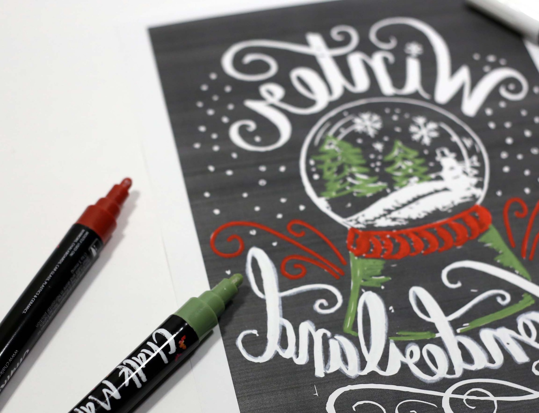 letter the template to make a chalkboard lettered sign