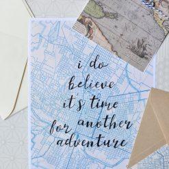 map paper adventure quote