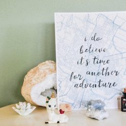 map paper stationery quote