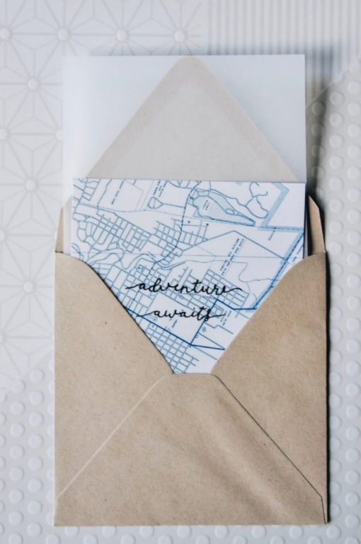 map paper stationery set