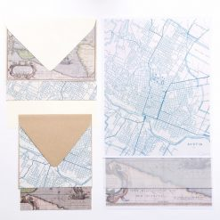 map stationery envelopes paper et