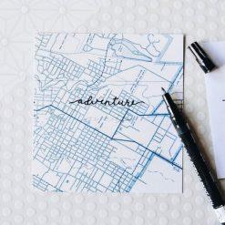 map stationery paper set