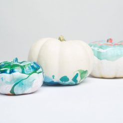 modern painted pumpkins kit