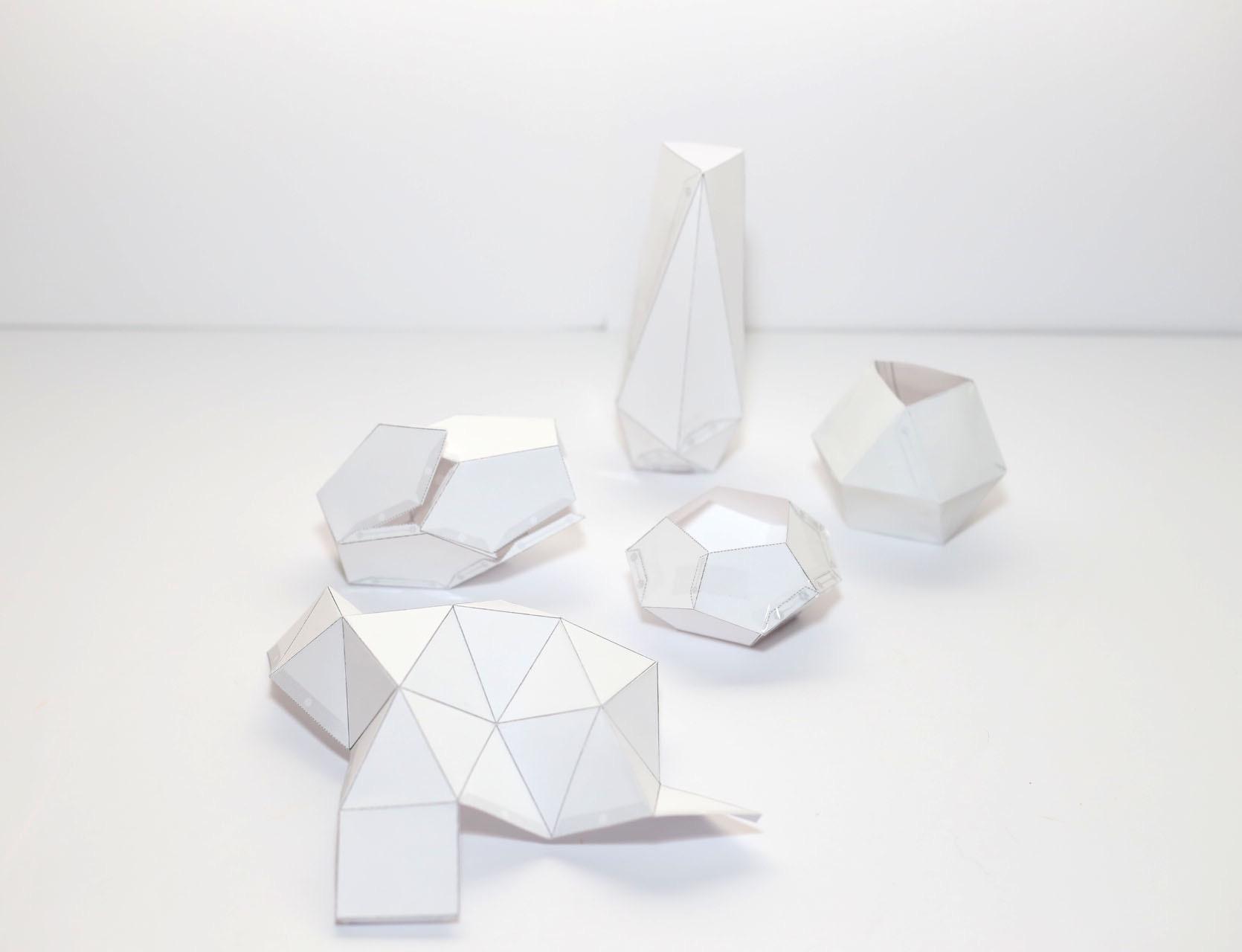 paper templates folded diy pop shop america