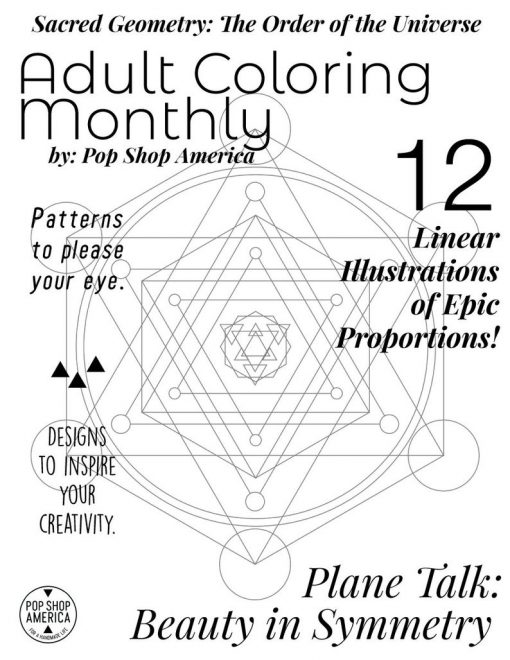 sacred geometry adult coloring book