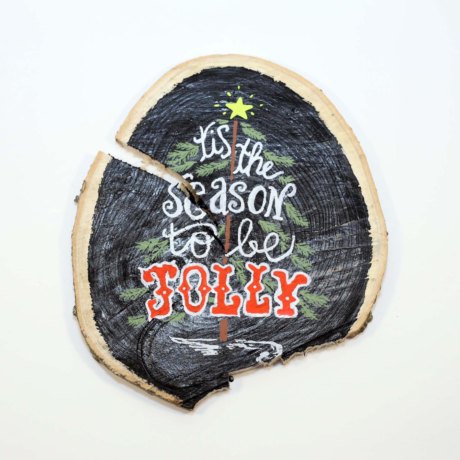 tis the season to be jolly chalkboard sign diy