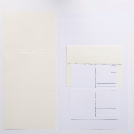 vertical view of watercolor paper mixed pack