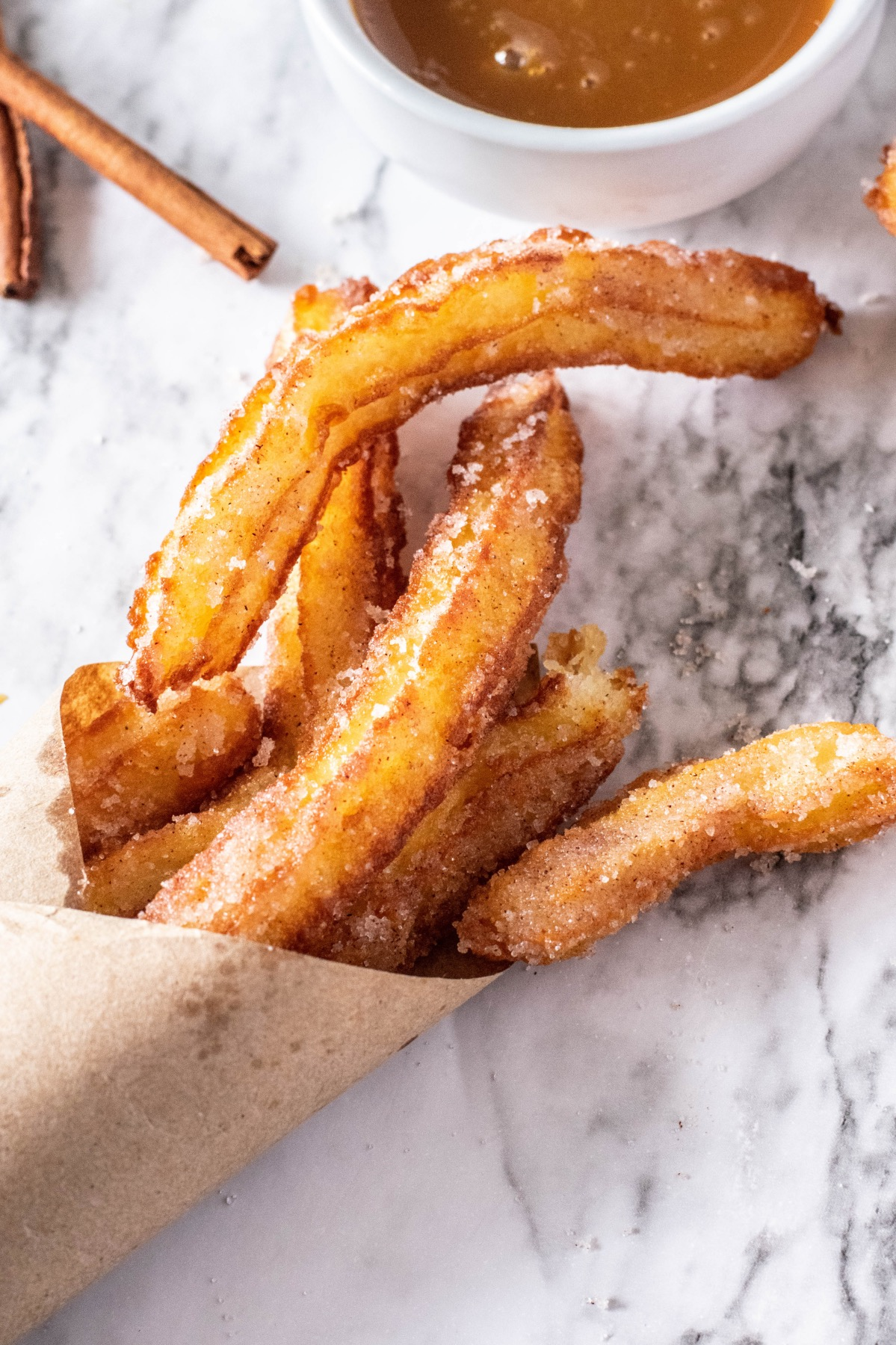close up of homemade churros recipe