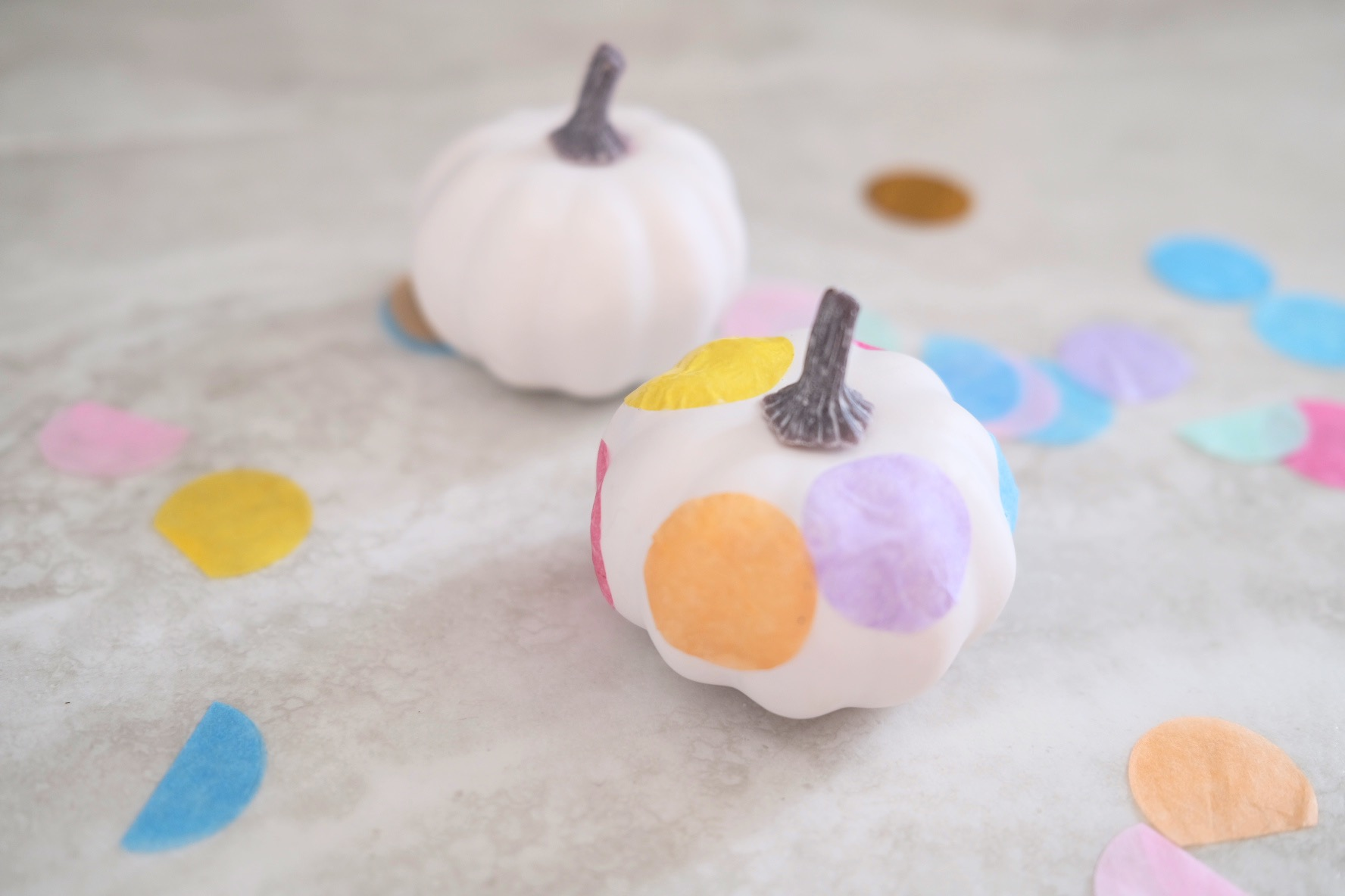 confetti pumpkins craft tutorial pop shop america