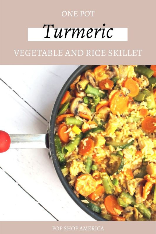 one pot turmeric vegetable rice skillet meal