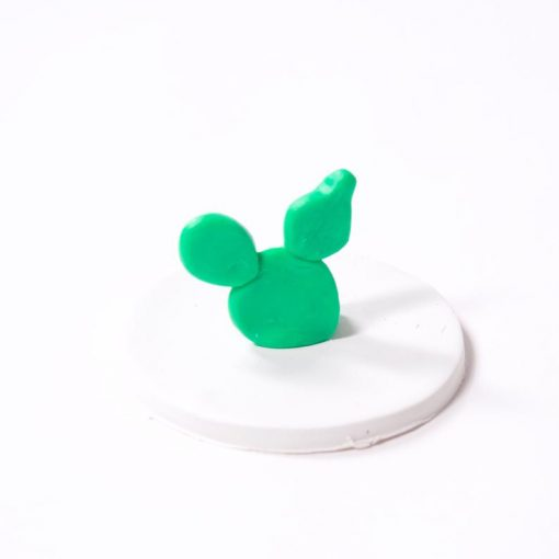 oven bake clay for cactus ring holder