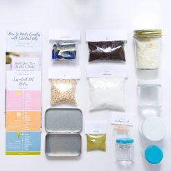 spa kit candle making bath scrubs and soaks
