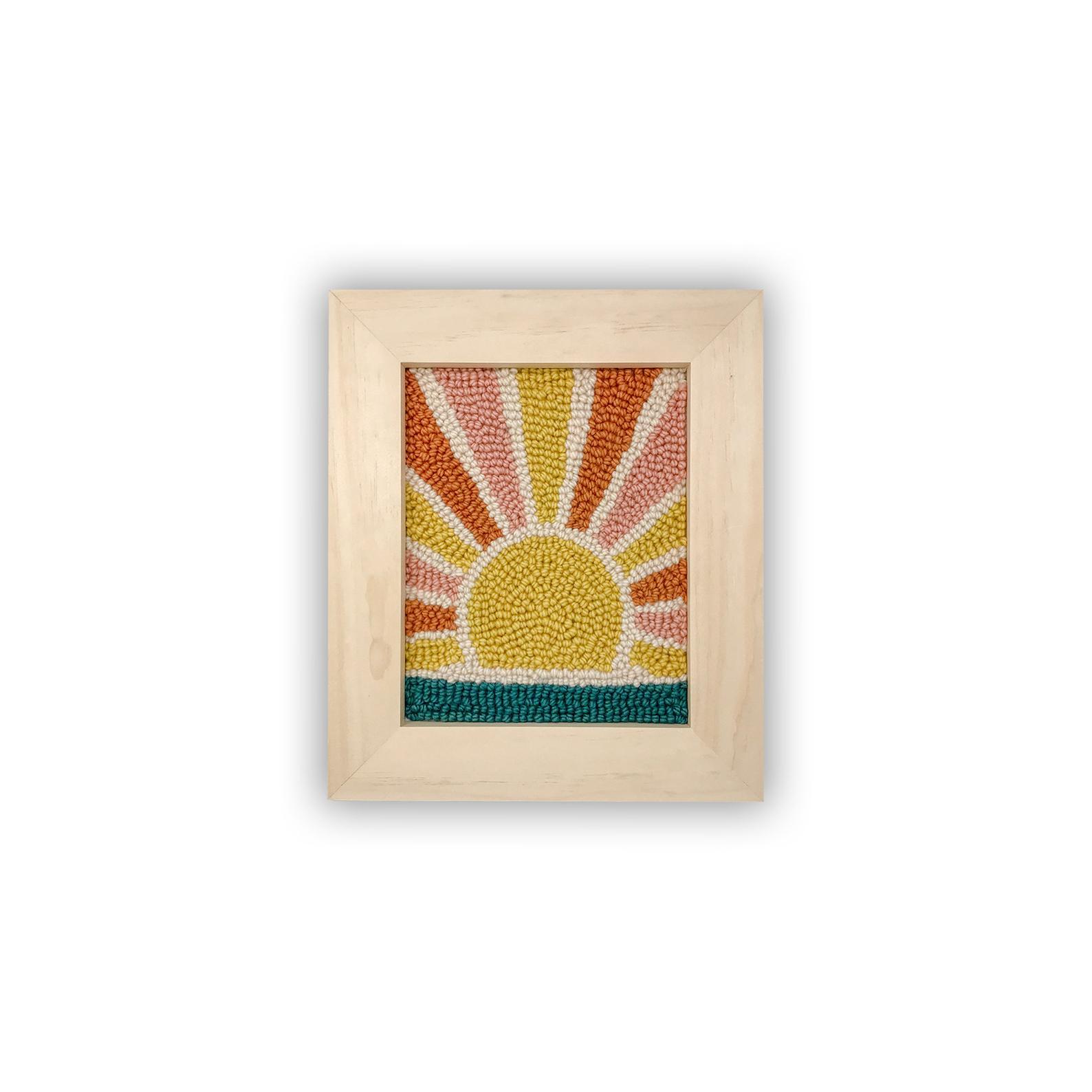 sunrise punch needle craft kit