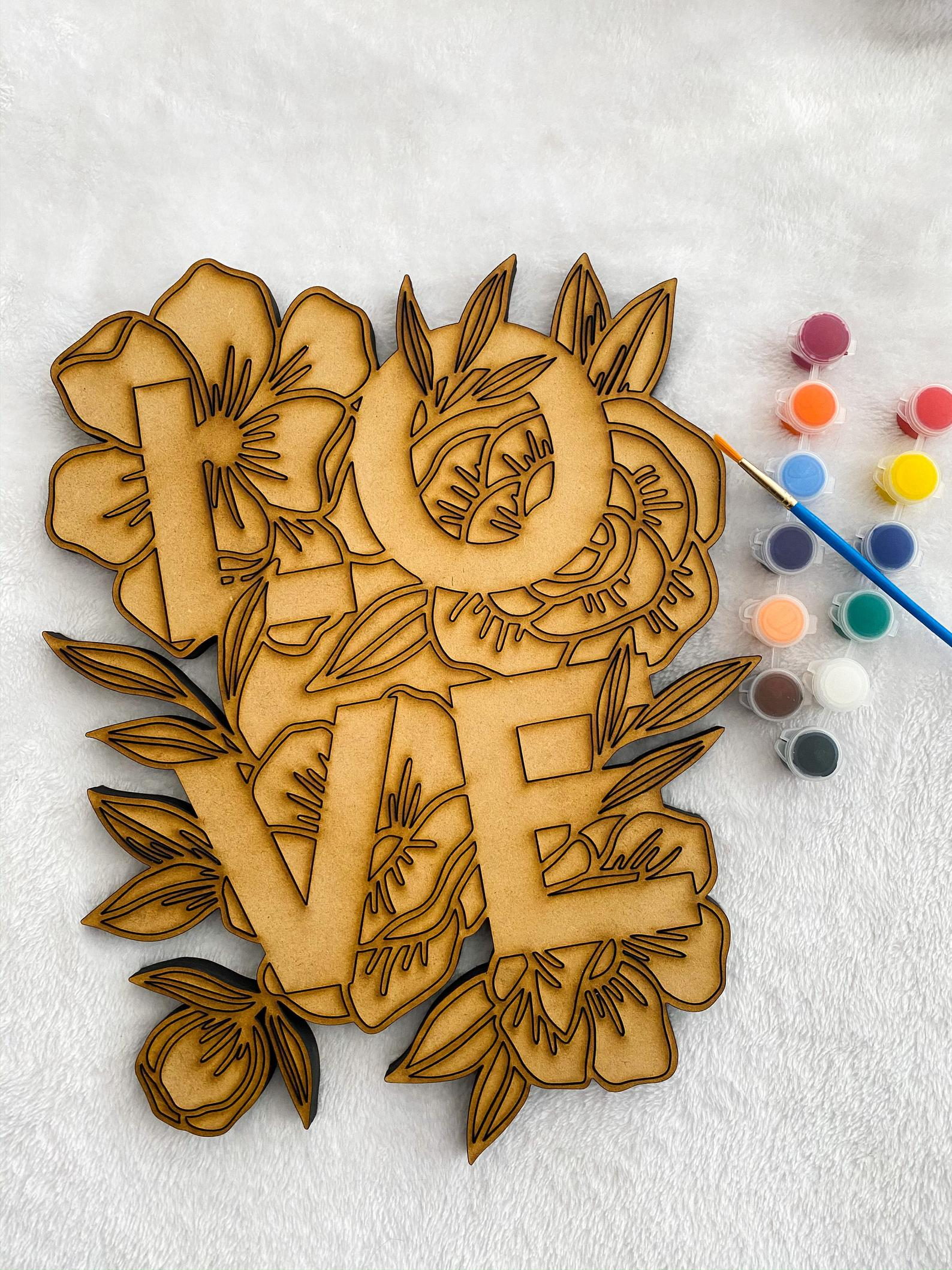 wood sign painting craft kits