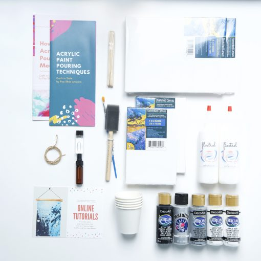 Pour Paint Box black acrylic paint floetrol