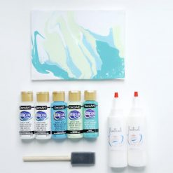 Turquoise Surf Blue Mint acrylic paint pouring colors