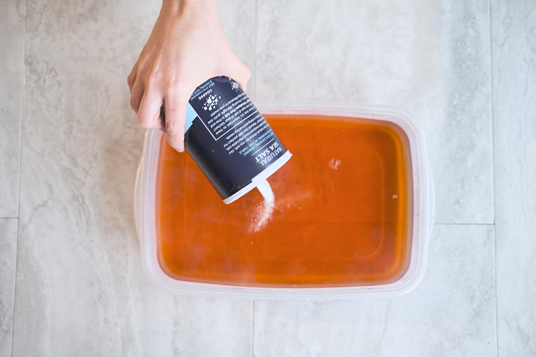 add salt to the rit dye bath for a dip dyed blanket