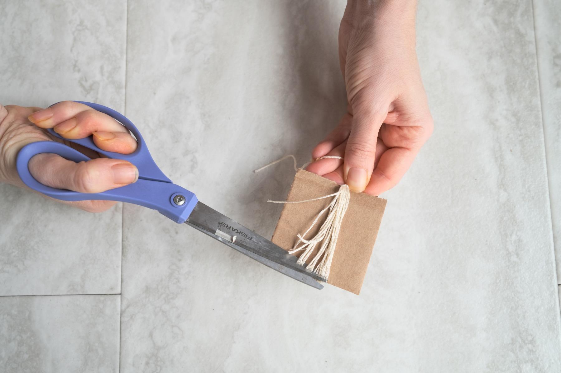 cut the ends of the tassel craft tutorial pop shop america