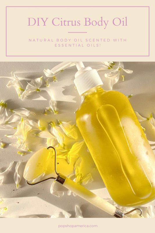 diy citrus body oil tutorial