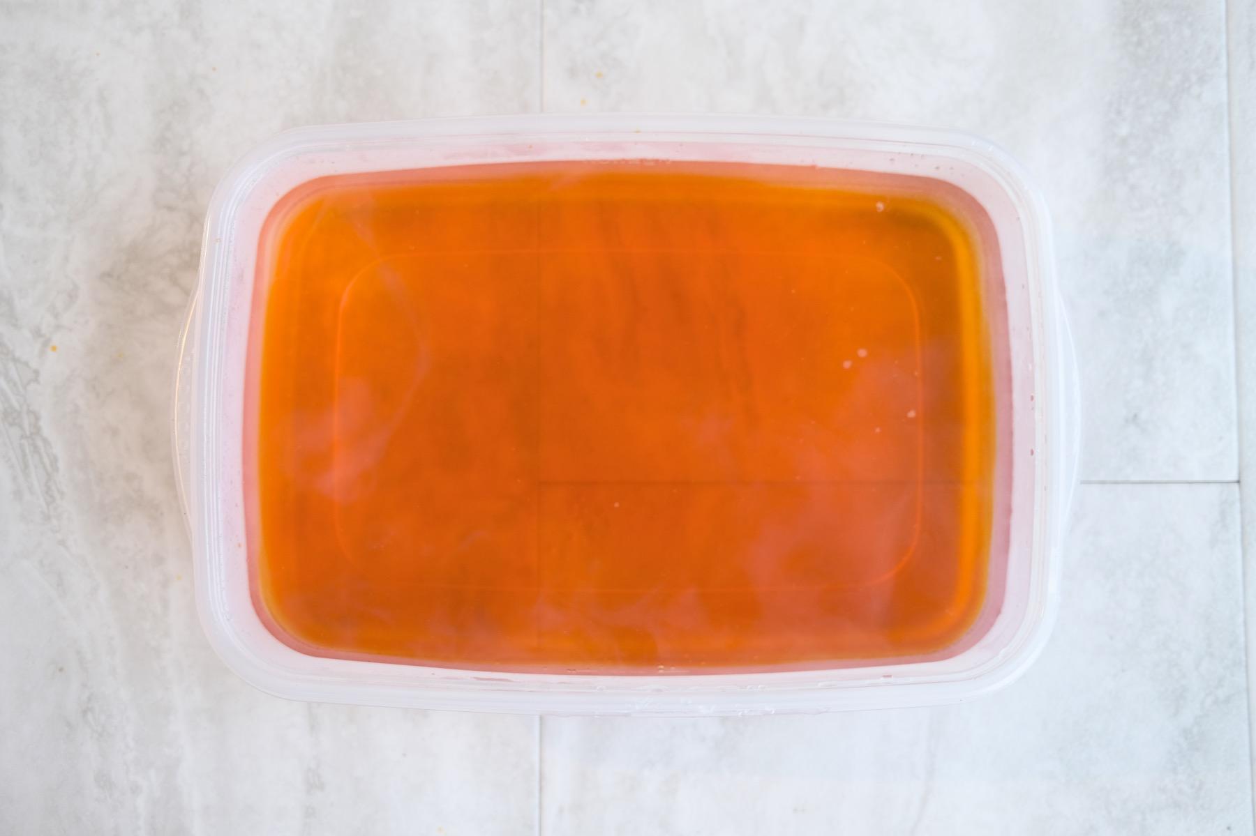 dye bath with rit dye to make a dip dyed blanket