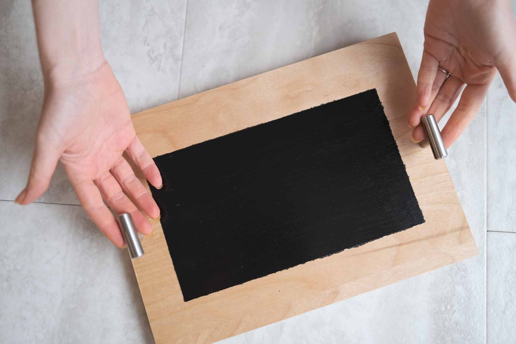 finished chalkboard serving tray blank