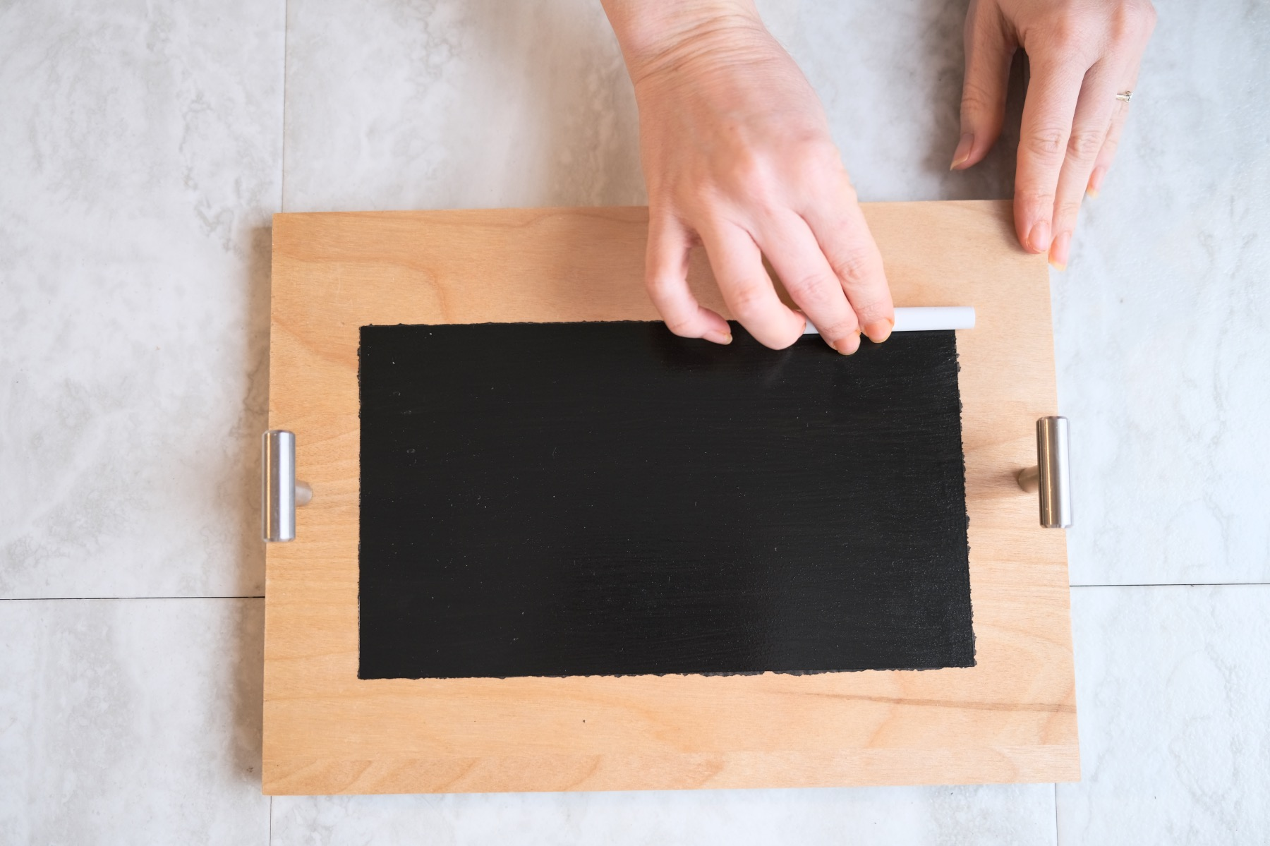 how to season a chalkboard step 1 craft tutorial